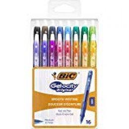 BIC Gel-ocity Original - Blíster de 16 unidades, bolígrafos de Gel, colores surtidos