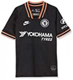 NIKE CFC Y Nk BRT Stad JSY SS 3r Camiseta Fútbol, Unisex niños, Black/(White) (Full Sponsor), S