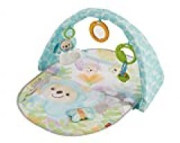 Fisher-Price Gimnasio Osito Musical, manta de juego para bebé (Mattel DYW46)