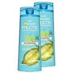 Fructis Garnier Champú anticaspa Cabello Grasas Citrus Detox con Acido Salicilico y Corteza de limón, sin parabeni, 250ml-3Paquetes de 2Unidad