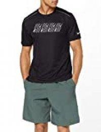 Nike M NK DF Miler Tech SS Capsule Camiseta de Manga Corta, Hombre, Black/htr, S
