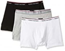 Tommy Hilfiger 3p Trunk Bóxer, Negro (Black/Grey Heather/White 004), Small (Pack de 3) para Hombre