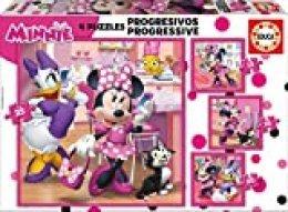 Educa Borrás Progresivos Mickey And The Roadster Racers puzzle infantil de 12, 16, 20 y 25 piezas, Minnie Happy Helpers, a partir de 36 meses (17630)