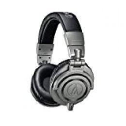Audio Technica ATH-M50XGM - Auriculares profesionales para monitorización en estudio, color gris plomo, estuche rígido incluido