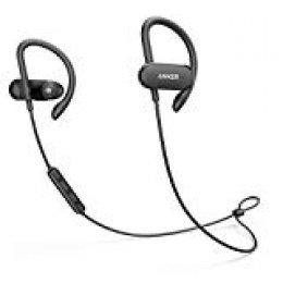 Anker SoundBuds Curve Auriculares inalámbricos Bluetooth 4.1 con batería de 12.5 Horas, Sonido estéreo, Recubrimiento Nano Resistente al Agua, Auriculares con micrófono Incorporado y Bolsa de Viaje