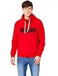 HIKARO Sudadera Hombre, Rojo (Red), 52 (Talla del fabricante: Large)