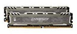 Ballistix Sport LT BLS2C8G4D26BFSBK/BLS2K8G4D26BFSBK - Kit de Memoria RAM de 16GB (8GB x 2, DDR4, 2666 MT/s, PC4-21300, Single Rank x8, DIMM, 288-Pin) gris