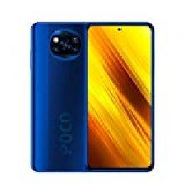 "Xiaomi Poco X3 Smartphone,6GB RAM 64GB ROM Teléfono,6.67"" FHD DotDisplay Qualcomm Snapdragon 732G Octa-Core Procesador con NFC Cámara Cuádruple (64MP+13MP+2MP+2MP) Versión Global(Azul)"