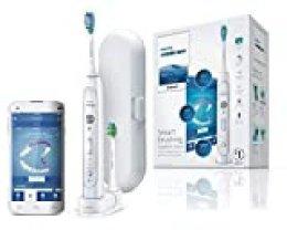 Philips HX9192/01 Sonicare FlexCare Cepillo de dientes, 3 modos, 3 intensidades, estuche y cabezales con sensor de presión, Plastic, 3 Velocidades, Blanco