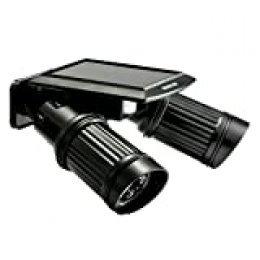 Spotlight Solar, sgodde 14pcs LED luces de inducción inalámbrico Detector IPR del movimiento humana, doble cabezas orientable, foco exterior con salida Forte para jardín, garaje, corte.ETC..
