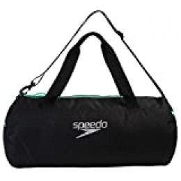 Speedo Bolsa de Lona, Unisex-Adult, Negro/Verde, Talla única