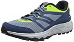 Salomon Trailster 2, Zapatillas de Trail Running para Hombre, Azul (Bluestone/Poseidon/Acid Lime), 44 2/3 EU