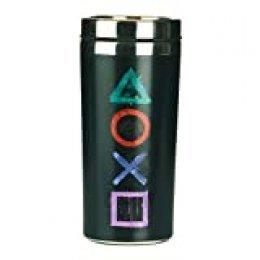 Playstation Taza de Viaje, Acero Inoxidable, Multicolor, 9 x 9 x 18 cm
