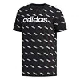 adidas M FAV tee Camiseta de Manga Corta, Hombre, Black/White, XS