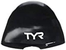 TYR Wall-Breaker 2.0 Racing Cap Gorro de natación Aprobado por la Fina, Hombre, Negro, Large