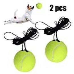 Fansport 2pcs Entrenamiento Tenis,Entrenador de Tenis con Cuerda de Goma Adecuado para Principiante para
