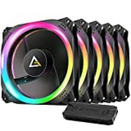 Antec Prizm 120 ARGB 5+C Carcasa del Ordenador Ventilador - Ventilador de PC (Carcasa del Ordenador, Ventilador, 12 cm, 2000 RPM, 32,6 dB, 45,03 cfm)