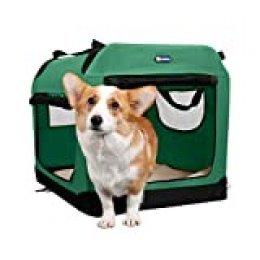 Veehoo Plegable Transportín para Perros, Blando, Caja para Mascotas abatible, transportable y Suave