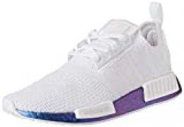 adidas NMD_r1, Zapatillas para Hombre, Silver Met./FTWR White/FTWR White, 45 1/3 EU