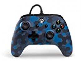 Controlador PowerA Wired con licencia oficial para  Xbox One, Xbox One S, Xbox One X und Windows 10 - Camuflaje azul sigilo