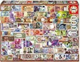Educa Borrás Puzzle 1.000 Piezas, Billetes del Mundo 17659