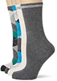 s.Oliver Socks S20592000 Calcetines, Verde (Ultramarine 7652), 35/38 (Pack de 4) para Mujer