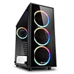 Sharkoon TG4 RGB - Caja de Ordenador, PC Gaming, Semitorre ATX, Negro