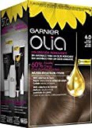 Garnier Olia coloración permanente sin amoniaco para un olor agradable con aceites florales de origen natural - Tono 6.0 Rubio Oscuro