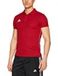 Adidas Core18 Camiseta Polo, Hombre, Power Red/White, XS
