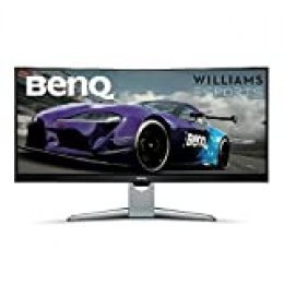 BenQ EX3501R - Monitor Curvo Gaming (Ultra WQHD 100 Hz HDR, 21:9, 3440 x 1440, Free-Sync, 1800R, HDMI, Display Port, USB-C), Negro, Plata, 35""