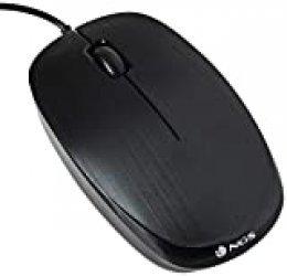 NGS PCS71601FLAME - Ratón óptico, Color Negro