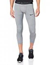 NIKE M NP Tght 3qt Pantalones de Deporte, Hombre, Smoke Grey/lt Smoke Grey/(Black), L