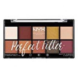 NYX Professional Makeup Paleta de sombras de ojos Perfect Filter Shadow Palette Tono  2  Rustic Antique Color Multicolor