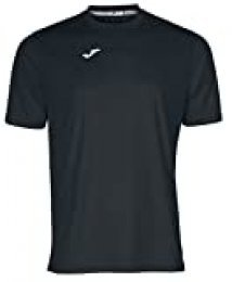 Joma Combi Camiseta Manga Corta, Hombre, Negro, 8-10
