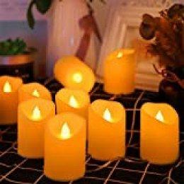 BLOOMWIN Guirnalda de Luces Velas Llama LED interior exterior Ambiente Iluminación Luz blanca cálida Cadena Luces de Navidad Decoración Fiesta Aniversario Navidad Boda Acción de Gracias Halloween