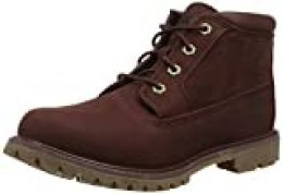 Timberland Nellie Chukka Leather SDE Non-Waterproof, Zapatillas Mujer, Rojo (Dark Brown Nubuck), 42 EU