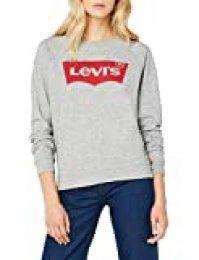 Levi's The Perfect Tee - Camiseta para Mujer, Gris (Sportswear Logo Smokestack Htr 0303), talla del fabricante: L