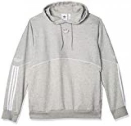 adidas Outline HDY FLC Sudadera, Hombre, Medium Grey Heather, L