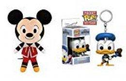 Funko POP - Juego de 2 llaveros (25 cm), diseño de Kingdom Hearts Donald y Funko Mickey Mouse