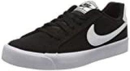 Nike Court Royale AC Canvas, Zapatillas para Mujer, Negro/Blanco, 36 EU