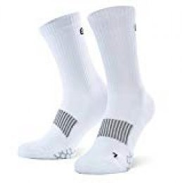 Eono Essentials - Calcetines deportivos (pack de 3), unisex, color: Blanco, tallas: Reino Unido 3-5, EU 35-38