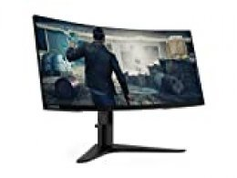 "Lenovo G34w - Monitor Gaming Curvo de 34"" (Pantalla WQHD, 3440x1440 Pixeles, Tiempo de Respuesta 4ms, 144 Hz, FreeSync, HDMI, DP) Color Negro, G34w-10, LENOVO Q27Q-10 27'' 2560X1440, Normal"