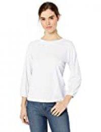 Marca Amazon - Daily Ritual: camiseta de manga elástica larga de algodón ligero para mujer.