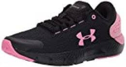 Under Armour UA GS Charged Rogue 2, Zapatillas para Correr, Calzado Deportivo de Calidad Unisex Adulto, Negro (Black/Lipstick/Lipstick), 38 EU