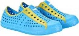 Cressi Pulpy Shoes Calzado Acuático Transpirable de Primera Calidad, Juventud Unisex, Sky/Amarillo, 35