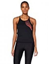 Under Armour Qualifier ISO-Chill Tanque, Mujer, Negro, MD