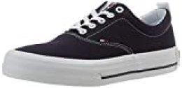 Tommy Hilfiger Classic Low Tommy Jeans Sneaker, Zapatillas para Hombre, Azul (Twilight Navy C87), 45 EU