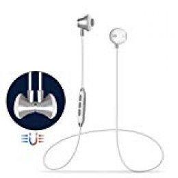 Auricular Manos Libres Bluetooth V4.1 Grandbeing Magnético Auriculares Deportivos con Cancelación de Ruido avanzado y Sweatproof IPX4 Incorporado Micrófono para iPhone y Otros Android Smartphones