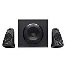 Logitech Z623 THX 2.1 Sistema de Altavoces con Subwoofer, Certificado THX Audio, 400 Vatios de Pico, Graves Potentes, Entradas de 3,5 mm/RCA, Enchufe UE, Multi-Dispositivos PC/PS4/Xbox/TV/Móvil/Tablet