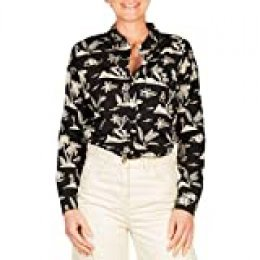 Scotch & Soda Oversized Boxy Fit Cotton Viscose Shirt In Various Prints Blusa, Multicolor (Combo H 0587), Small para Mujer